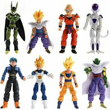 Dragon Ball Z 8x Figures Set: Piccolo Cell Trunks Super Saiyan Goku Gohan Vegeta