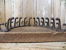 Lot 12 Antique-Style Dble ACORN Rustic School COAT HOOK Cast Iron Wall Hardware