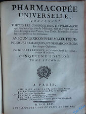 LEMERY Pharmacopée universelle - Lexicon Pharmaceutique latin / français 1764