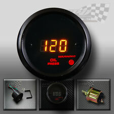 OIL PRESSURE LED DIGITAL BLACK GAUGE 52mm