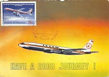 B2526 Romanian Maximum Card Airplane Aircraft Boeing 707-320  front/back scan