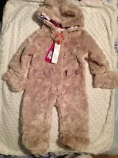 Ted Baker Baby Girls Faux Fur All One Coat Age 0-3 Months NWT
