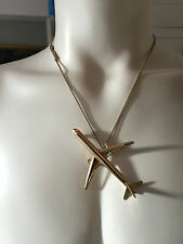 MAISON MARTIN MARGIELA RUNWAY  LARGE GOLD  AIRPLANE NECKLACE