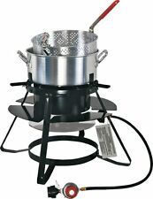 NEW Brinkmann 100,000 BTU 10 Qt Propane Outdoor Deep Fryer Kit! Fish Gas Cooker