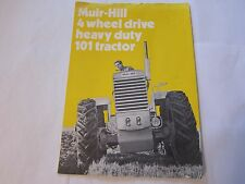 OEM 1968 Muir Hill 101 Heavy Duty Tractor Brochure Sales Catalog More Listed