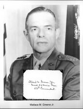Wallace M Greene Autograph 4 Star Marine Corps General 23rd Commandant #1