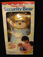 1985 FISHER PRICE PJs TEDDY BEDDY bear SECURITY BLANKET LOVEY #1404 in BOX