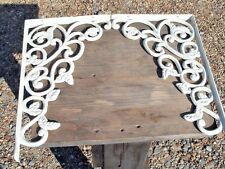 Cast Iron White Wall Shelf Brackets Corbels Braces Made in USA