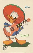 CARTE POSTALE CHOCOLAT TOBLER FANTAISIE ILLUSTRATEUR WALT DISNEY DONALD