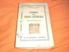 fubini-bonora,antologia della critica letteraria petrini 1952 volume 1°