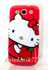 for samsung galaxy S3  cell phone cute hello kitty kitten case white hot pink/
