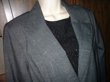 NWT Star City gray plaid stretch Blazer SZ Large