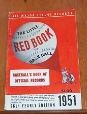 The Little Red Book of Baseball 1951   Baseball's Book of Official Records
