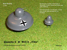 "Haunebu II  &  Vril-8 ""Odin""      1/700 Bird Models Resinbausatz / resin kit"
