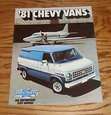 Original 1981 Chevrolet Truck Chevy Vans Sales Brochure 81 Sportvan