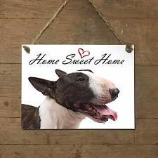 BULL TERRIER Home Sweet home mod3 Targa CANE piastrella ceramic tile dog