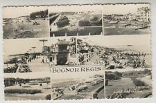 Sussex (West) postcard - Bognor Regis (Multiview showing 9 views) - RP - P/U