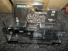 GREENLIGHT 1/64 HITCH & TOW SERIES 8 GAS MONKEY 2016 RAM 2500 AND CAR HAULER