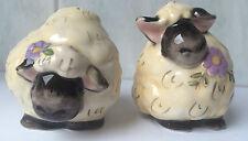 2 Barattolo Per Le Spezie Pecora Sale Pepe Ceramica Design Decorazione Tavolo