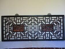 Chinese  Antique Oriental Wall Decor Wood Panel  Wooden Window/Screen 19c (B)