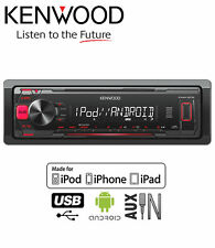 Kenwood KMM-202 car stereo, USB AUX in MP3 Plays iPod iPhone