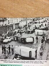 P1-1 Ephemera 1968 Picture Paris Riots Guy Lussac Street