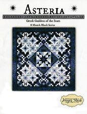ASTERIA BLOCK OF THE MONTH QUILT PATTERN, From Needle In A Hayes Stack NEW
