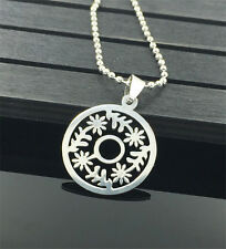 Fashion Womens Men's Silver 316L Stainless Steel Titanium Pendant Necklace NEW @