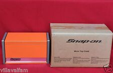 Snap On Electric Orange Mini Micro Top Chest Tool Box  Brand New !!!!!