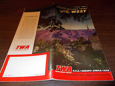 1950 TWA Western US Tours Travel Brochure / Great Pictures and Illustrations !!