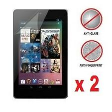 2 X Google Nexus 7 Anti-Glare (Matte) Screen Protectors & Clean Cloth