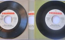 WILLIE NELSON 45 Promo LOT Midnight Rider Heartaches of a Fool Country Stereo