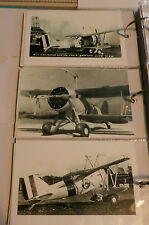WWII U.S. NAVY MACON CURTISS SPARROWHAWK BIPLANES LOT OF 3 B&W 4X6 PHOTOGRAPH 78