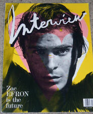 Interview Magazine April 2009 Zac Efron Marianne Faithful Alison Mosshart