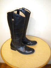 womens frye melissa button tall riding boots black leather 7.5 B