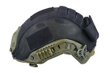 Airsoft FAST PJ Tipo Base Jump HELMET COVER mod. STOCK Nero Uk B