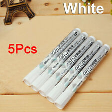 5 Pcs Deli White Universal Waterproof Permanent Tire Graffiti Marker Pen