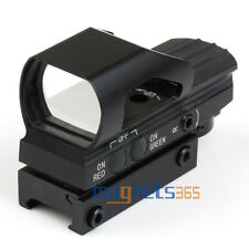 Holographic 4 Reticle Red Green Dot Sight Scope Picatinny Weaver 21mm Rail Mount