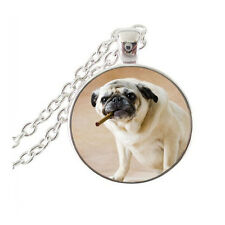 Pug With Cigar Necklace