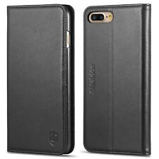 iPhone 7 Plus Case SHIELDON Genuine Leather iPhone 7 Plus Wallet Case Book De...