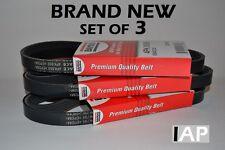 1996-2000 Honda Civic NEW OEM 3-Drive Belt Kit A/C-Power Steering-Alternator