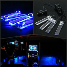 LED Blue Car Suv Charge interior light 4in1 12V Glow Decorative Atmosphere Lamp