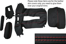 RED STITCH CENTRE CONSOLE & TUNNEL ODDMENT SKIN COVERS FITS LOTUS EUROPA TC