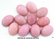 8X6 MM OVAL PERUVIAN PINK OPAL CABOCHON ALL NATURAL GEMSTONE EACH