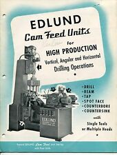 "1953 Vintage Sales Catalog: ""EDLUND CAM FEED UNITS FOR HIGH PRODUCTION"""
