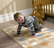 Nursery bulles beige lavable doux tapis de 70 x 100cm