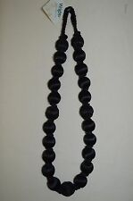 "Curtain Tie-back- Wrights - 30""spread - fiber wrapped beads - Black or Turquoise"