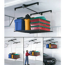 Overhead Garage Storage Rack Cable Lifted Stock Pulley System Lift Store Above