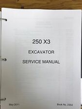 LINK BELT 250 X3 EXCAVATOR SERVICE SHOP REPAIR WORKSHOP MANUAL