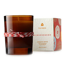 Thymes Gingerbread Votive Aromatic Fragrance Candle in Glass - 2 oz